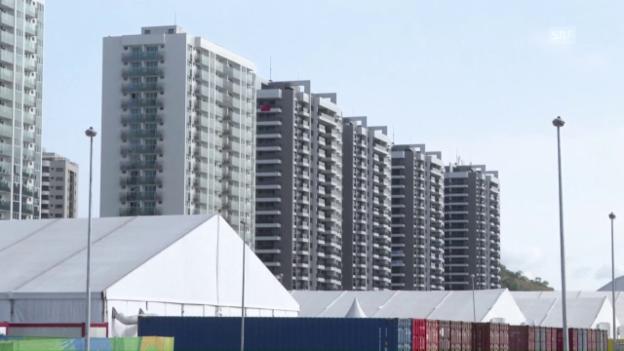 Video «Erste Impressionen aus dem olympischen Dorf» abspielen