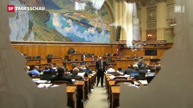 Parlamenterische Geschäfte bleiben oft über Jahrzehnte liegen. (Tagesschau, 13.09.12, 19.30 Uhr)
