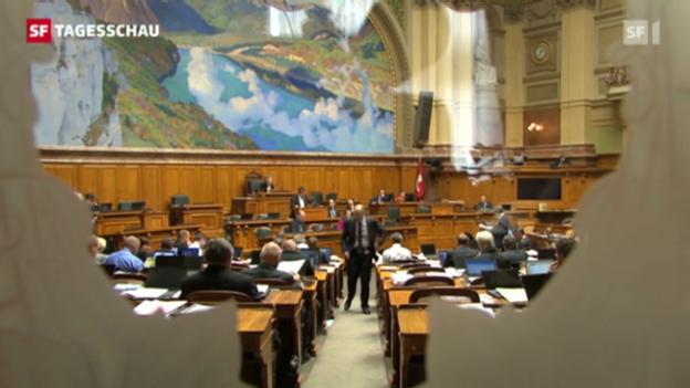 Video «Parlamenterische Geschäfte bleiben oft über Jahrzehnte liegen. (Tagesschau, 13.09.12, 19.30 Uhr)» abspielen