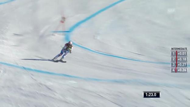 Video «Ski: Super-G Männer in Lake Louise» abspielen