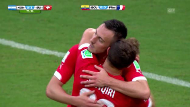 Video «Honduras - Schweiz: Die Live-Highlights» abspielen