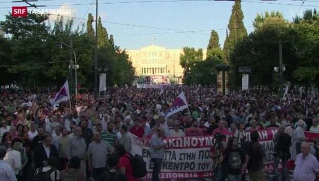 Video «Hoffnung und Druck in der Griechenland-Krise» abspielen