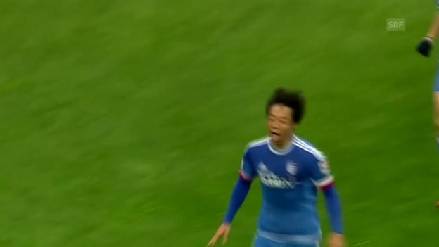 Video «Fussball: Südkoreanische Liga, Freistosstor Yeom» abspielen