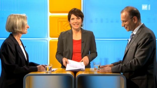 Video «Studiogespräch mit Prisca Birrer-Heimo und Hannes Germann» abspielen