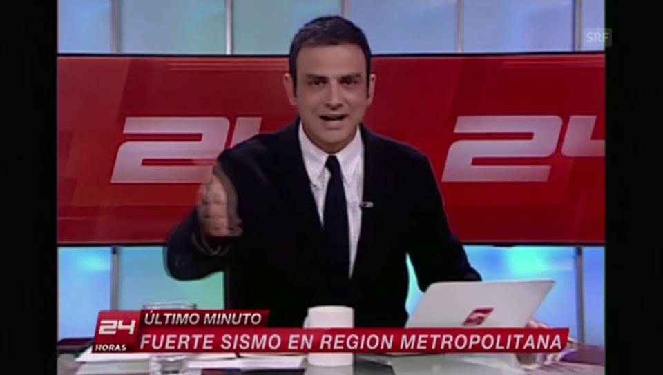 Erbeben erschüttert chilensische Nachrichtensendung