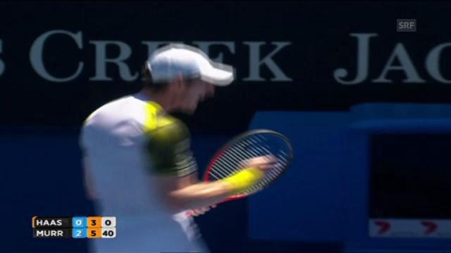 Tennis: Matchball Murray - Haase
