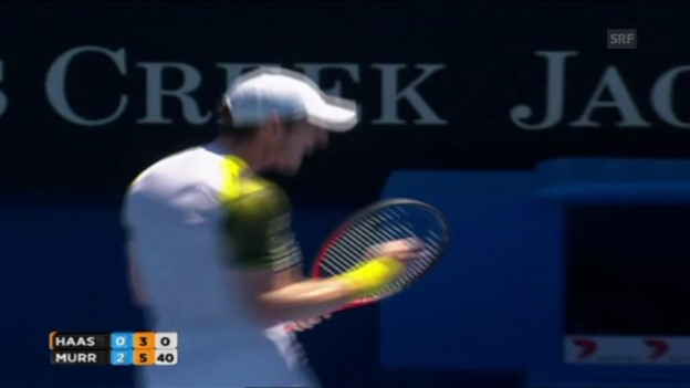 Video «Tennis: Matchball Murray - Haase» abspielen