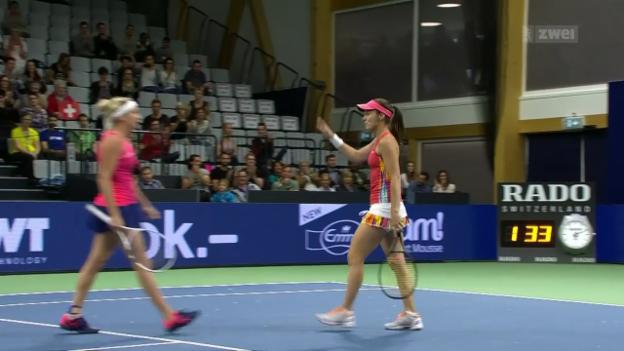 Video «Tennis, WTA: Ladies Open in Biel» abspielen