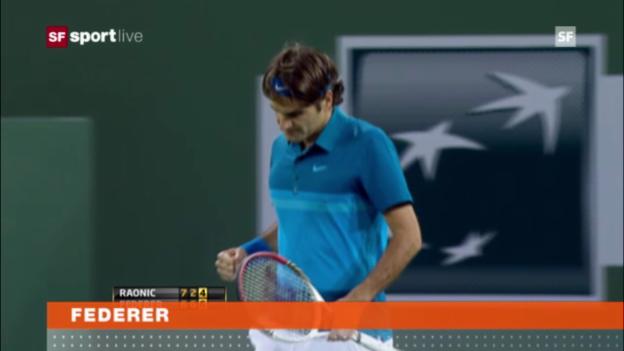 Video «ATP Indian Wells: Federer - Raonic» abspielen