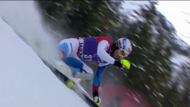 Video «Ski alpin: 2. Slalomlauf von Gini in Wengen» abspielen