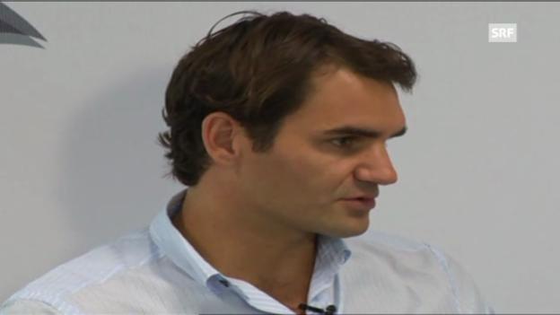 Video «Federer vor neuem Jahr» abspielen