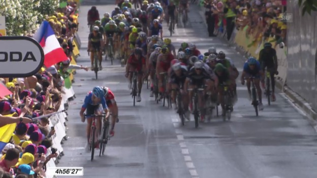 Video «Rad: 15. Etappe Tour de France, Schlussphase» abspielen