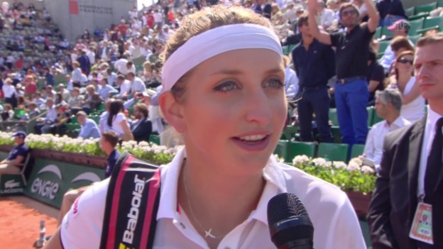 Video «Tennis: French Open, Bacsinszky über Williams» abspielen