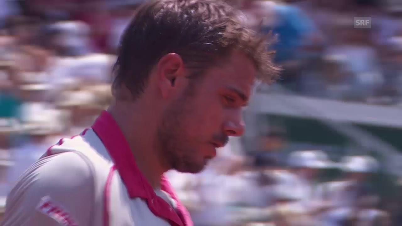 Tennis: Tsonga-Wawrinka, Satz 2, Tiebreak