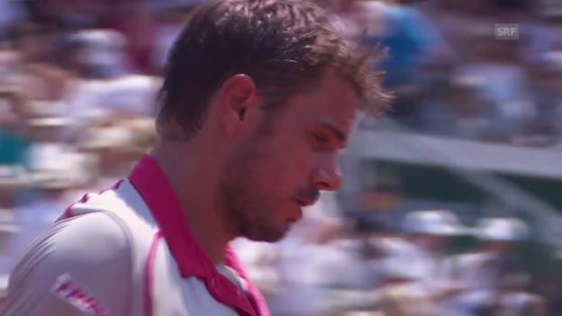 Video «Tennis: Tsonga-Wawrinka, Satz 2, Tiebreak» abspielen