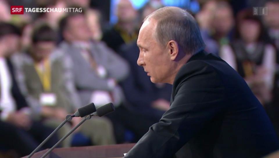 Putin gibt Jahrespressekonferenz