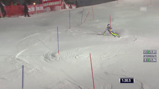 Video «Ski alpin: Super-Kombi in Kitzbühel, Slalom-Lauf von Alexis Pinturault» abspielen