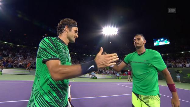 Video «Federer-Kyrgios: Die Satzbälle» abspielen