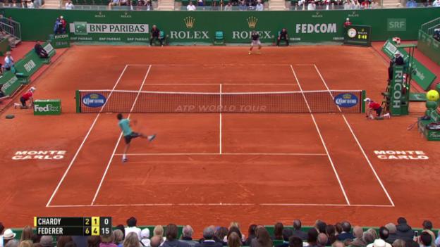 Video «Tennis: ATP Monte Carlo, Federer - Chardy» abspielen