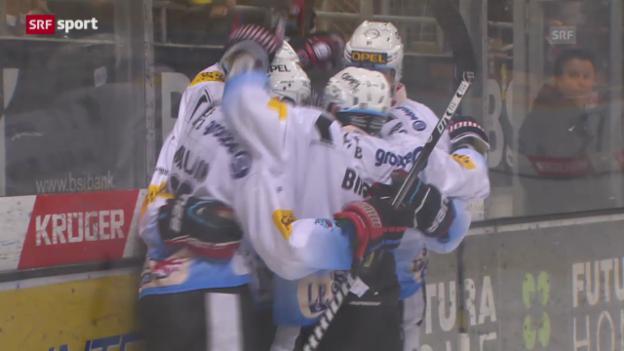 Video «Eishockey: NLA, Lugano - Fribourg» abspielen