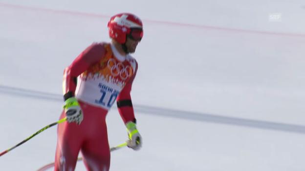 Video «Ski, Super-G, Fahrt von Didier Defago (sotschi direkt, 16.02.14)» abspielen