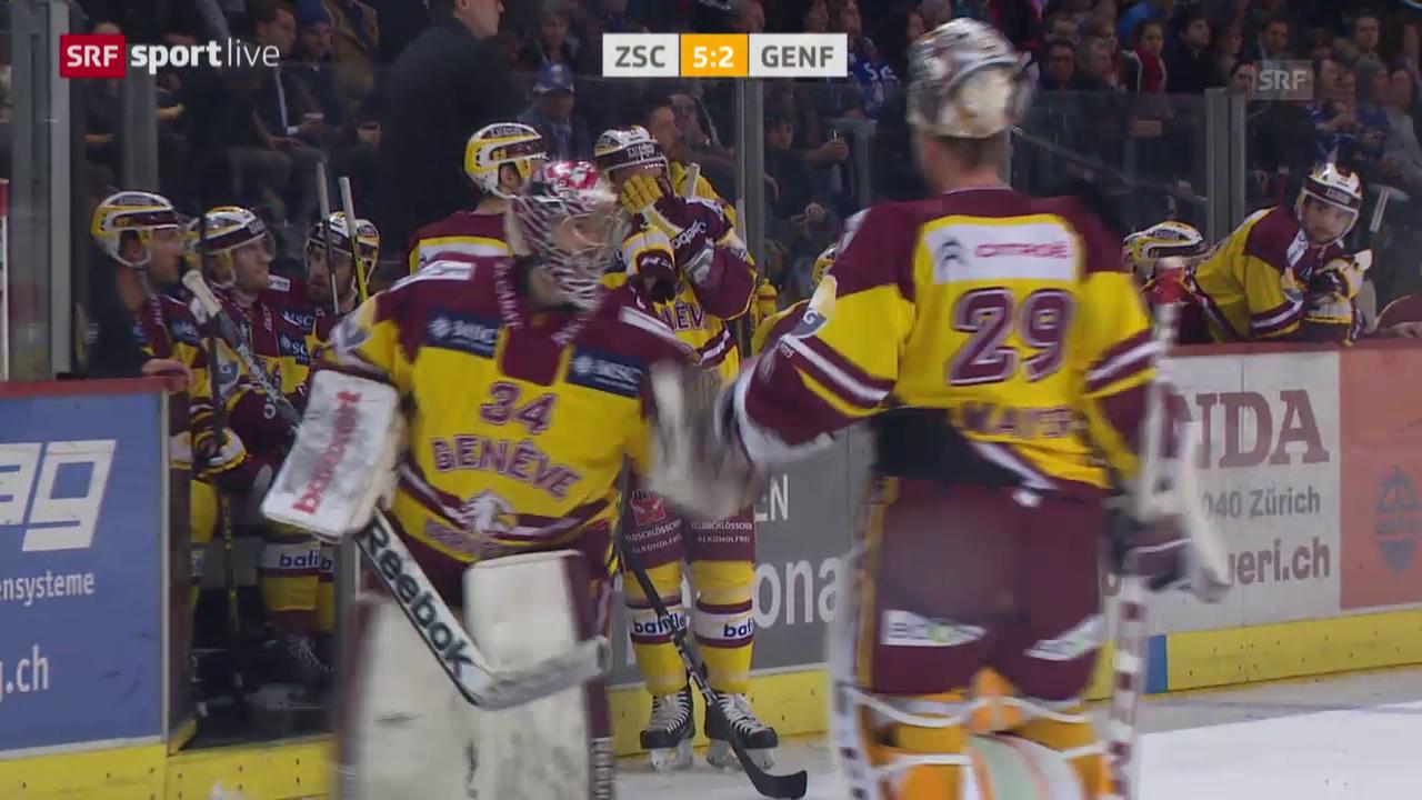 Eishockey: Playoff-Halbfinal, Zusammenfassung ZSC - Genf
