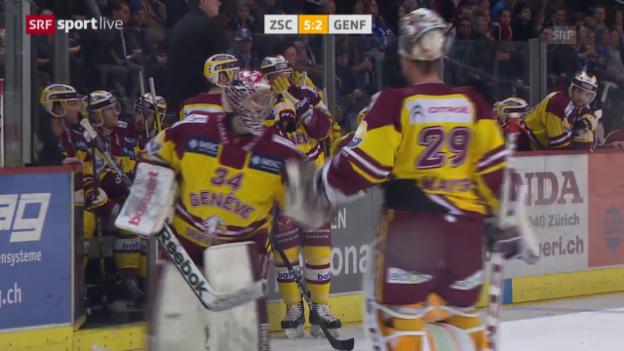 Video «Eishockey: Playoff-Halbfinal, Zusammenfassung ZSC - Genf» abspielen