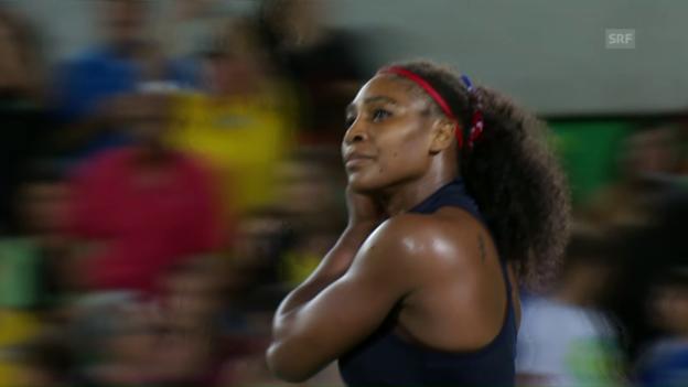 Video «Serena Williams nach Fehlerorgie out» abspielen