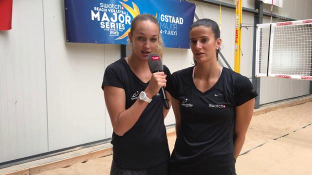 Video «Beachvolley-Duo Vergé-Dépré/Heidrich im Interview» abspielen