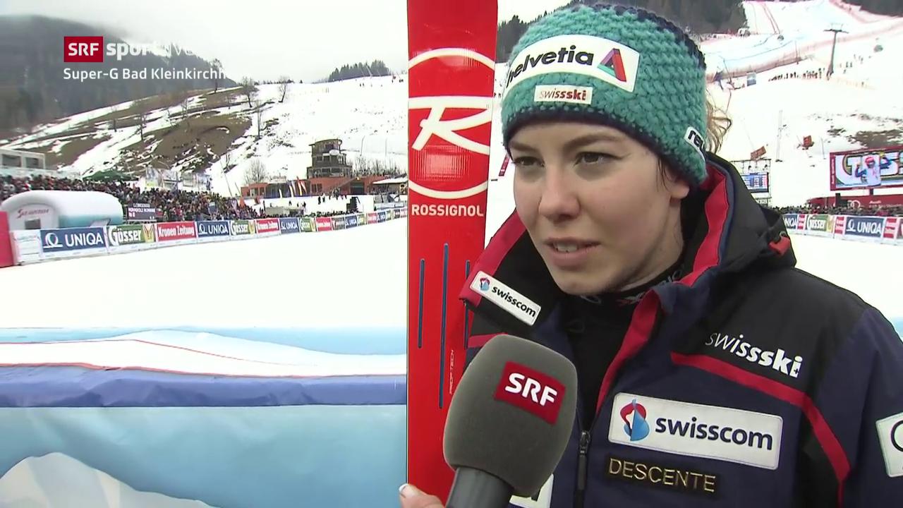 Michelle Gisin über den Super-G in Bad Kleinkirchheim