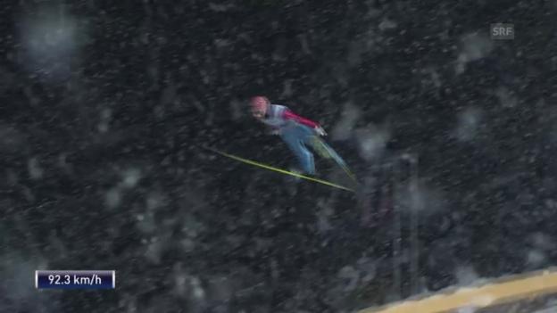 Video «Skispringen: Die Sprünge von Kraft in Oberstdorf» abspielen