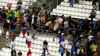 Video «Scharfe Warnung der UEFA nach Krawall-Nacht» abspielen