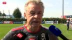 Video «Fussball: Die Schweizer Nati am Tag nach dem Remis gegen Island» abspielen