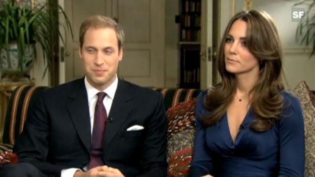 Video «Prinz William und Kate Middleton sprechen über ihre Liebe» abspielen