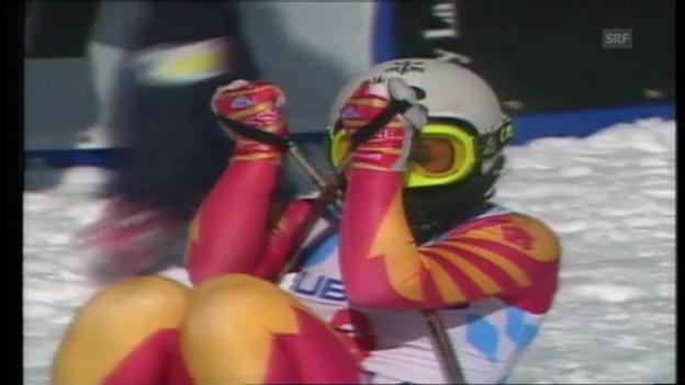 Video «Maria Wallisers Gold-Abfahrt in Vail 1989» abspielen