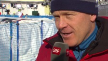 Video «Didier Cuche würdigt Feuz' Erfolg» abspielen
