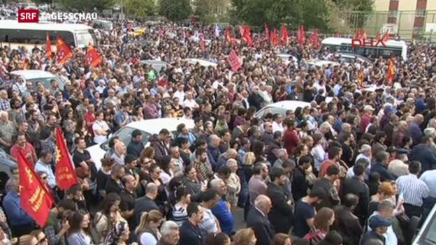 Video «Wut und Trauer in Ankara» abspielen