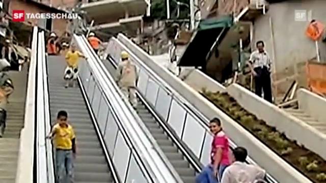 Rolltreppe für kolumbianisches Armenviertel