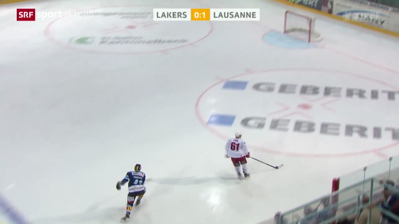 Eishockey: NLA, Lakers - Lausanne
