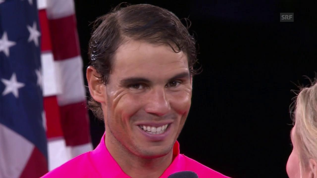 Nadal: «Fühle mich hier wie zuhause» (engl.)