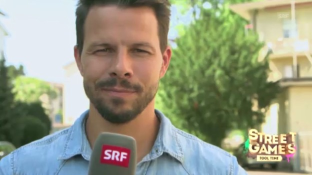 Video «Streetgames: Nick Läderach moderiert «Tool Time»» abspielen