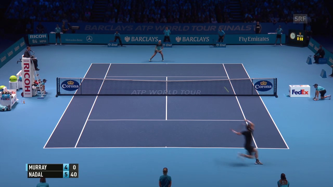 Tennis: ATP Finals 2015, Gruppenphase, Murray - Nadal