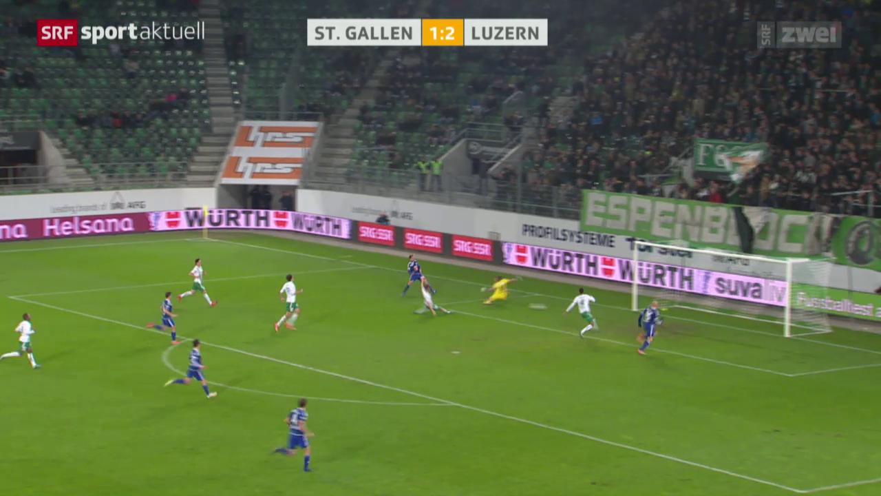 Fussball: Cup, Achtelfinals St. Gallen - Luzern