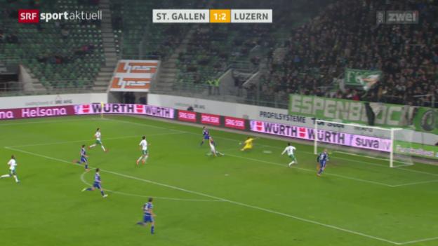 Video «Fussball: Cup, Achtelfinals St. Gallen - Luzern» abspielen