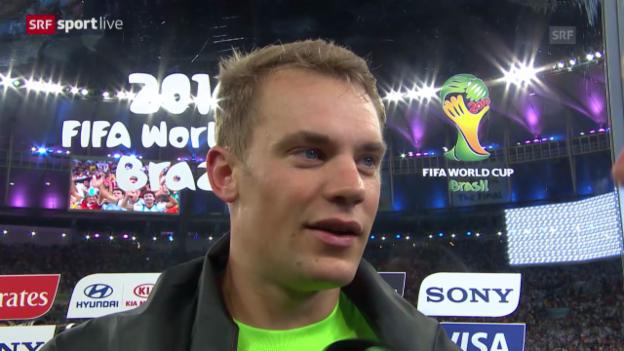 Video «FIFA WM 2014: Interview mit Manuel Neuer» abspielen