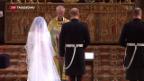 Video «Meghan und Harry sagen «Ja»» abspielen