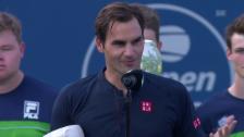 Link öffnet eine Lightbox. Video Federer zu Djokovic: «Du darfst stolz auf dich sein» abspielen