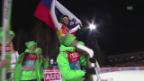Video «Peter Prevc Sprung zum Tages- und Gesamtsieg in Bischofshofen» abspielen