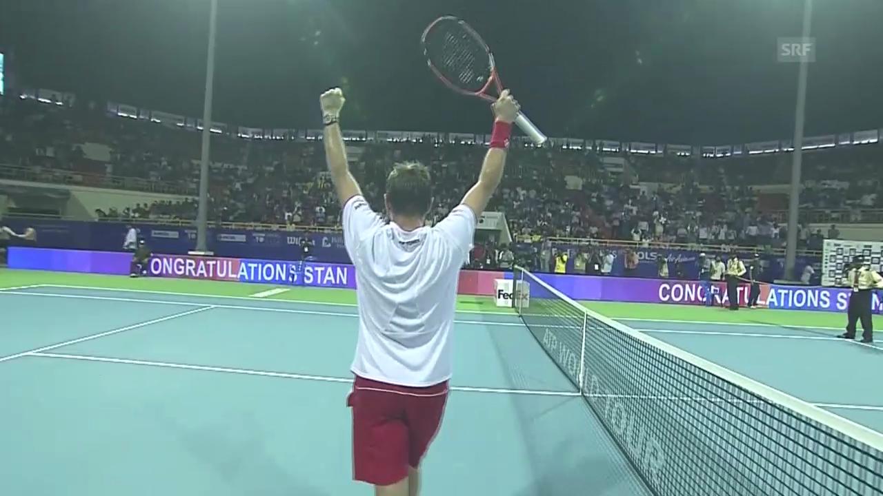 Tennis: ATP-Turnier Chennai, Final, Highlights Wawrinka - Roger-Vasselin (englisch)