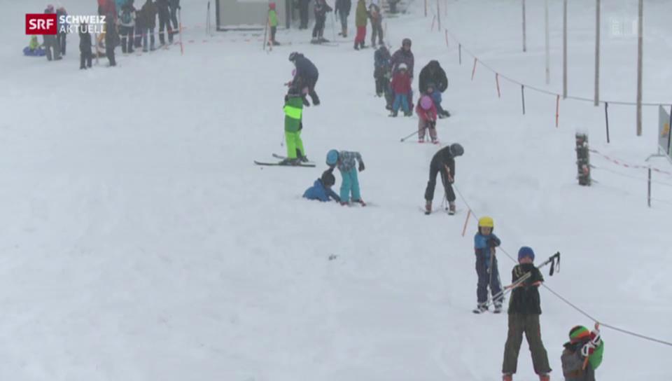Tiefstgelegener Skilift der Schweiz in Betrieb